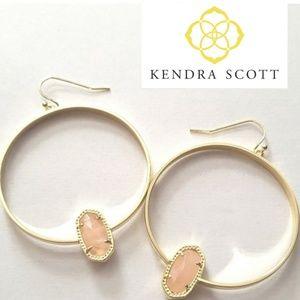 ■Kendra Scott■ Elora Rose Quartz Hoop Earrings